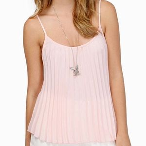 Tobi Sweet Pleats Blush Tank Top